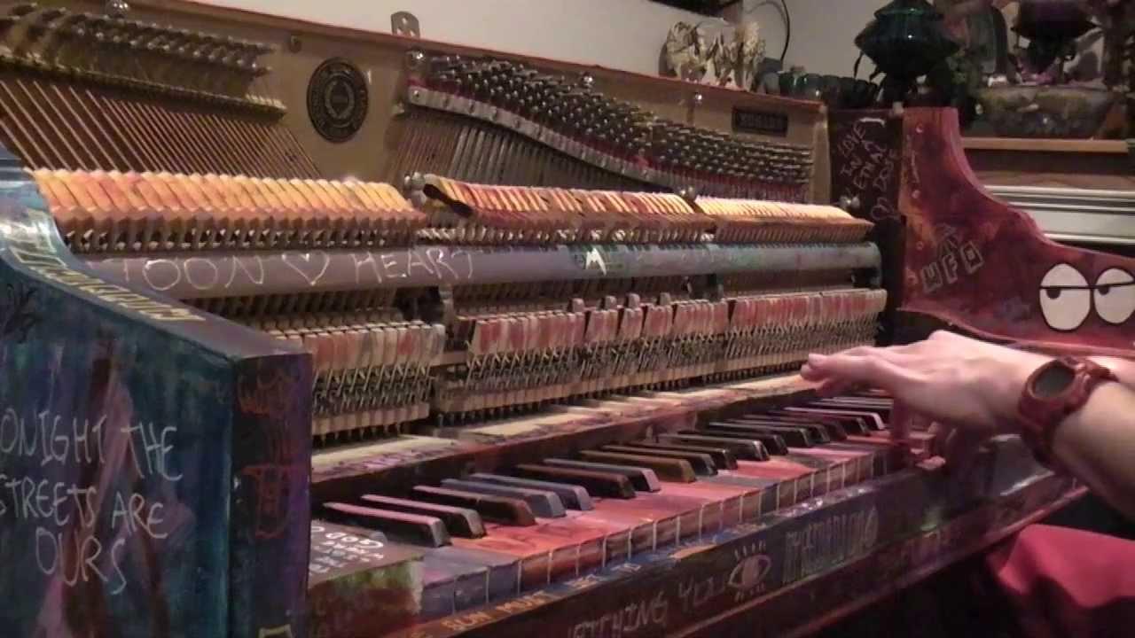 Coldplay Style Graffiti Tack Piano Youtube