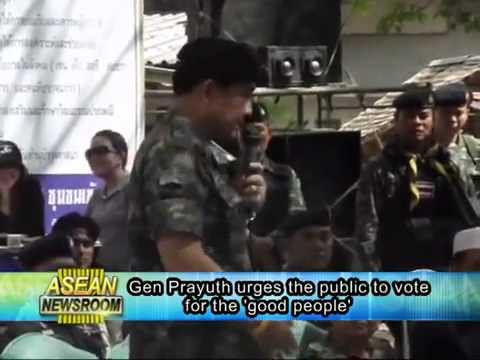 June 15: Army chief Prayuth urges the public to vote for