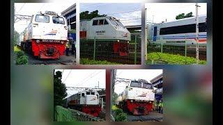 Kompilasi Kereta Api Melintas di Stasiun Bekasi Pada Sore Hari