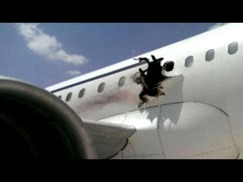 Did a bomb tear a hole in jet over Somalia?