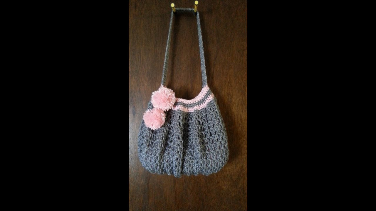 Easy Crochet Pouch Pattern : Easy #Crochet #handbag #purse #TUTORIAL DIY - YouTube