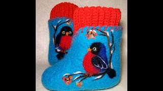 """Felting wool. Master class """"Drawings wool as decoration of clothing and footwear"""""""