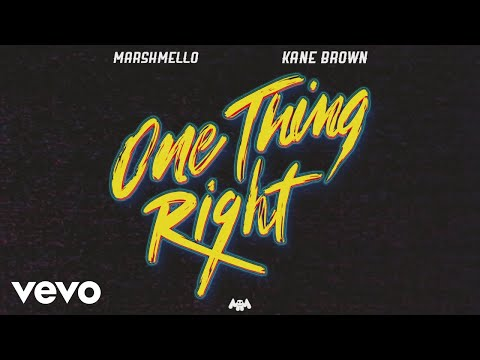 Download Lagu  Marshmello, Kane Brown - One Thing Right Audio Mp3 Free