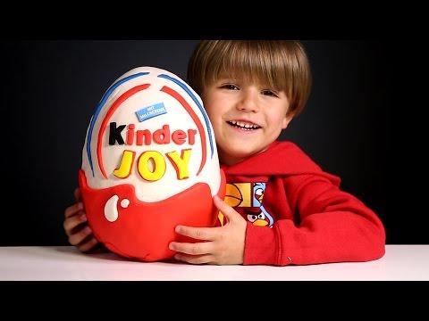 Giant Kinder Joy Surprise Egg made of Play-Doh