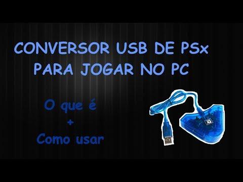 Conversor USB de controle de PSx para PC (como é e como usar)