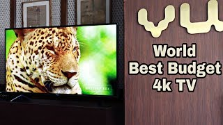 World Best Budget 4K TV by VU television   Premium Android TV in just 35000   CompareRaja