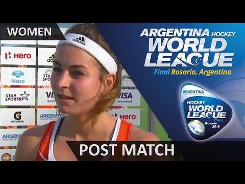 Post Match Interview Eva De Goede #HWL2015 #Rosario