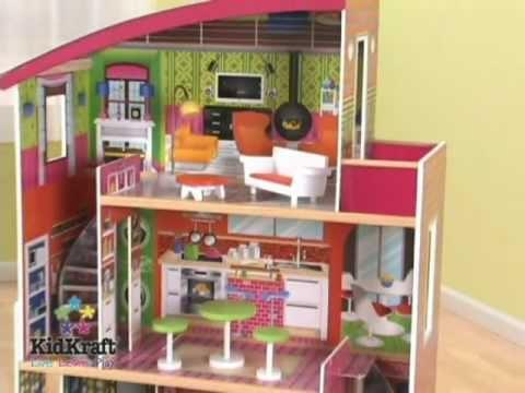 Casitas de mu ecas kidkraft en eurekakids youtube for Jugar a hacer casas