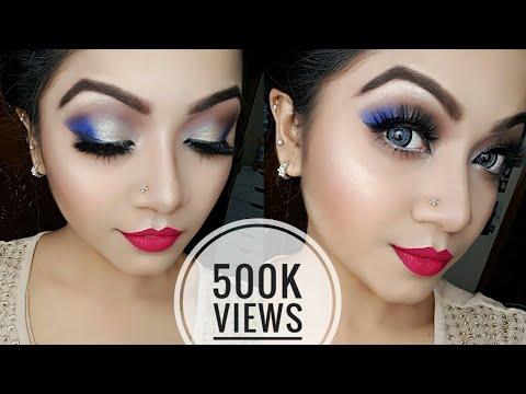 Electric Blue And Gold Eye Makeup Tutorial | NYE Party Makeup Tutorial | Makeup Maniac By Linda