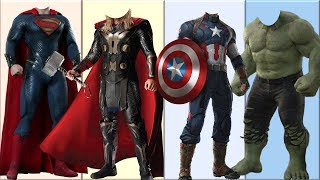Wrong Heads Top Superheroes [Part 1] | Can You Guess?