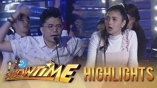 It's Showtime PUROKatatawanan: Kim's jaw drops after hearing the joke of Vhong