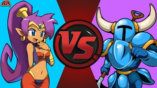 SHANTAE vs SHOVEL KNIGHT! (WayForward vs Yacht Club Games) Cartoon Fight Club Episode 160