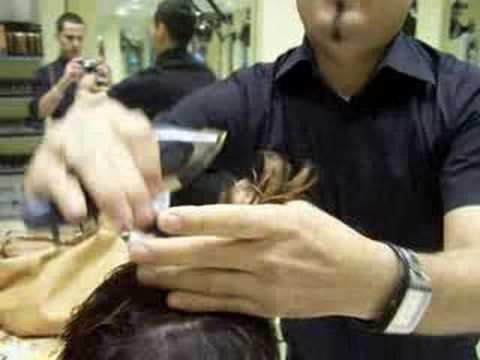 alexander prada, corte de cabello con maquina