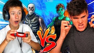 1V1 ME VS MY LITTLE BROTHER! LOSER DELETES SKINS! MOST INSANE 1V1 IN FORTNITE!