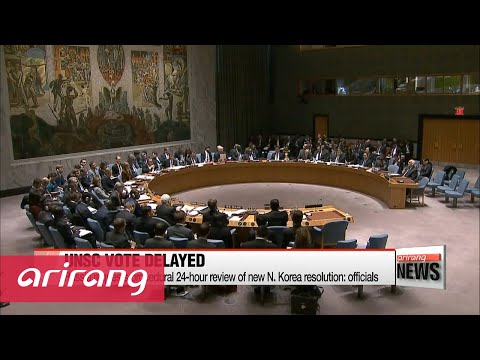UN Security Council's vote on N. Korea sanctions delayed to Wednesday