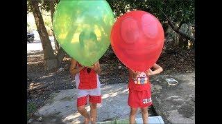 Stin Dâu - Vui Hè Chơi bong bóng khổng lồ - Giant bubbles