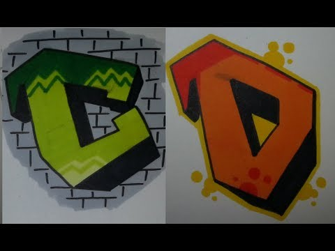 Simple Graffiti Tutorial step by step #2 - How to draw C and D