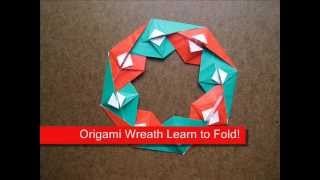 Origami Instructions Origami Christmas Wreath