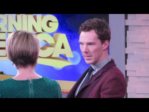 Actor Benedict Cumberbatch interview on Good Morning America talking Imitation Game & Engagement