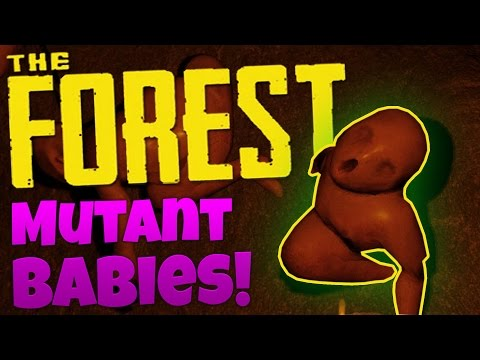 The Forest Gameplay - Cave Exploring - MUTANTS EVERYWHERE! - Let's Play The Forest Co-op Gameplay