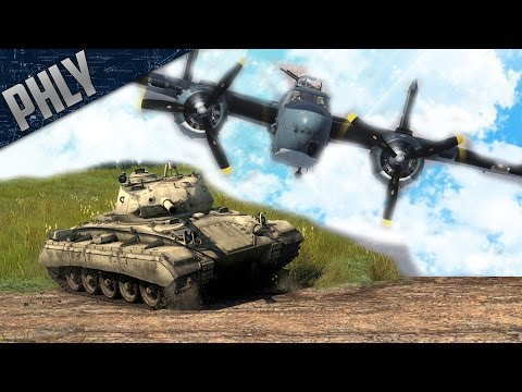 War Thunder Tanks Gameplay - M24 Chaffe & PBJ 75mm COMBINED ARMS!