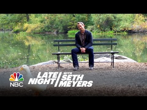 Seth Sits on a Park Bench and Thinks About Stuff - Late Night with Seth Meyers