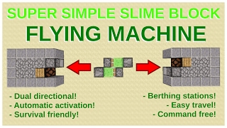 Super-simple Flying Machine: Only 6 Blocks! - Minecraft 1.11
