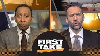 First Take reacts to Zaza Pachulia falling on Russell Westbrook | First Take | ESPN