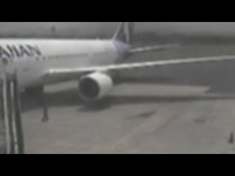 CCTV: Plane stowaway on tarmac at Hawaii's Kahului Airport after terrifying flight