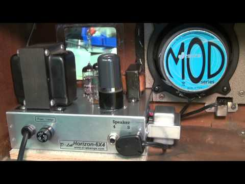 D-lab Horizon Tube Guitar retro radio transformer amp demo Fender Champ