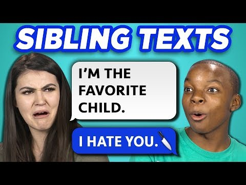 10 FUNNY BROTHER SISTER TEXTS w/ Teens & College Kids (REACT)