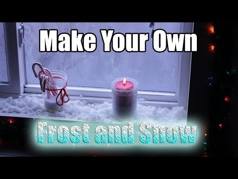How to make frost and snow for the holidays!