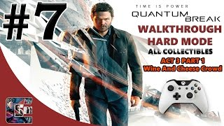 """Quantum Break Walkthrough - HARD - All Collectibles ACT 3 Part 1 """"The Wine And Cheese Crowd"""""""