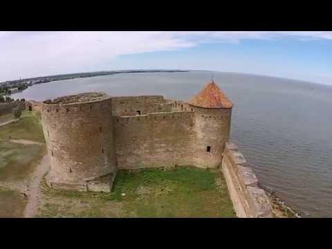 Akkerman fortress in Belgorod Dnestrovskiy. Sky video HD. Фортеця в Білгород Дністровську