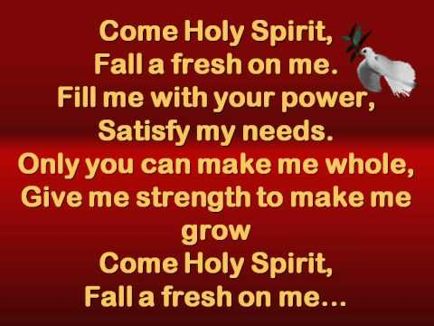 Come holy spirit lyrics planetshakers