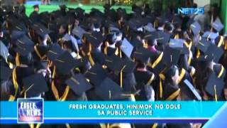 DOLE encourages fresh graduates to seek employment in the government