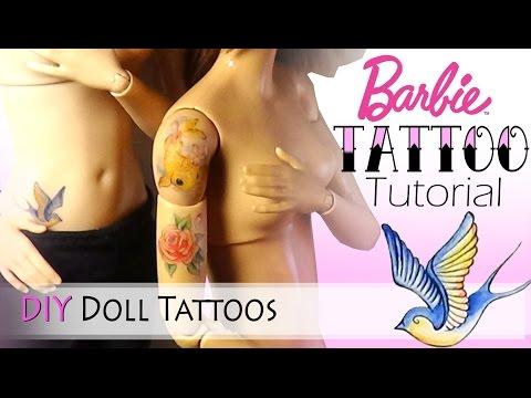 Как сделать тату кукле