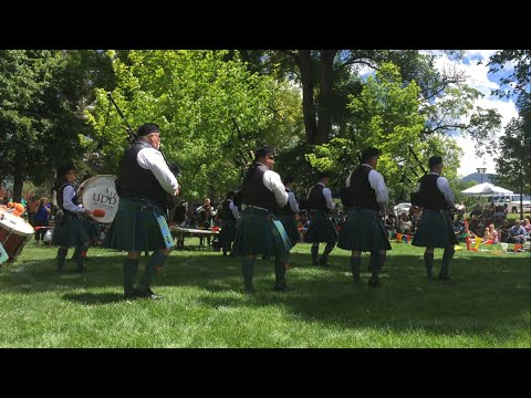 Payson Scottish Festival Bagpipe competition 2015