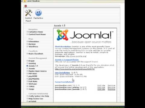 Joomla Tutorial-Install Joomla on Your Website Using Fantastico