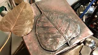 Chasing and Repousse | Copper Bodhi Leaf | w/clearmindmalas