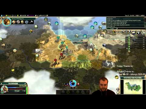 Civilization 5 Multiplayer 133: Shoshone [2/4] ( BNW 6 Player Free For All) Gameplay/Commentary
