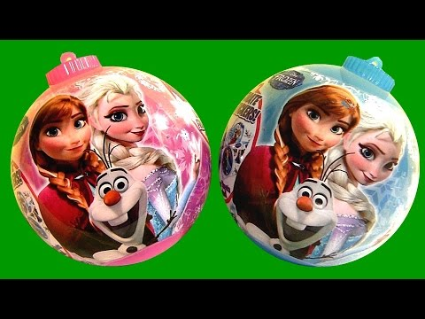 Disney Frozen Christmas Surprise Ornaments SHOPKINS PeppaPig MyLittlePony Kinder Barbie PlayDough