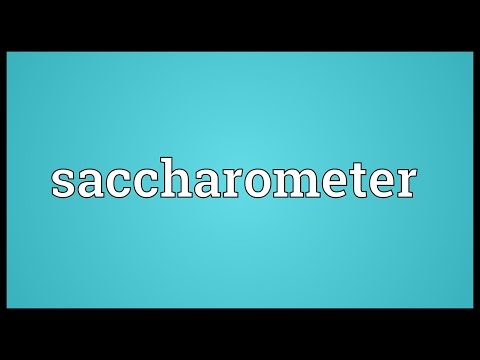 Header of saccharometer
