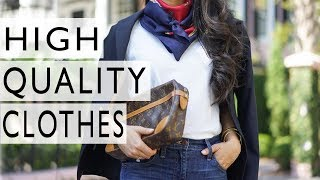 How To Find High Quality Clothes That Last For Years | Easy Tips