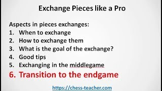 Exchange Pieces like a Pro - Introduction (Chess course)