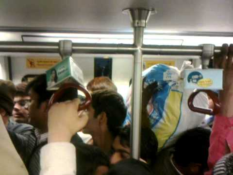 population explosion in DELHI METRO :::plz don,t do more than 1 baby
