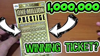 1,000,000 Lottery Ticket!!! (WINNING TICKET?)