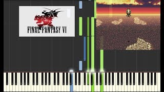 Final Fantasy VI - Searching Friends [Piano Cover Tutorial] (Synthesia)