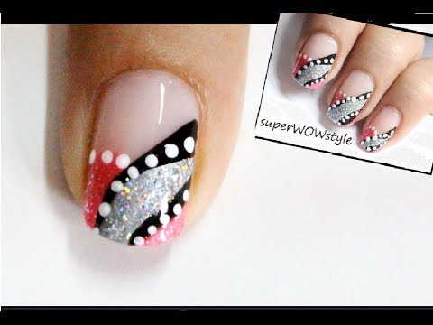 Abstract French Tip Manicure! Easy Nail Art Designs