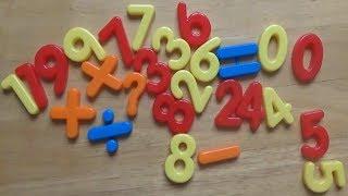 Mở hộp đồ chơi bảng chữ số 0-9| dạy bé đọc các chữ số từ 0-9 | dạy bé học màu sắc